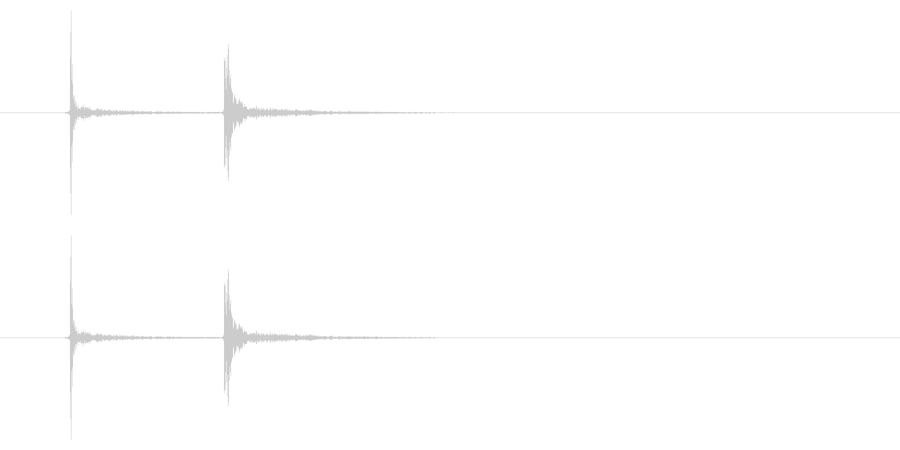 カチッ_スイッチを入れるの未再生の波形
