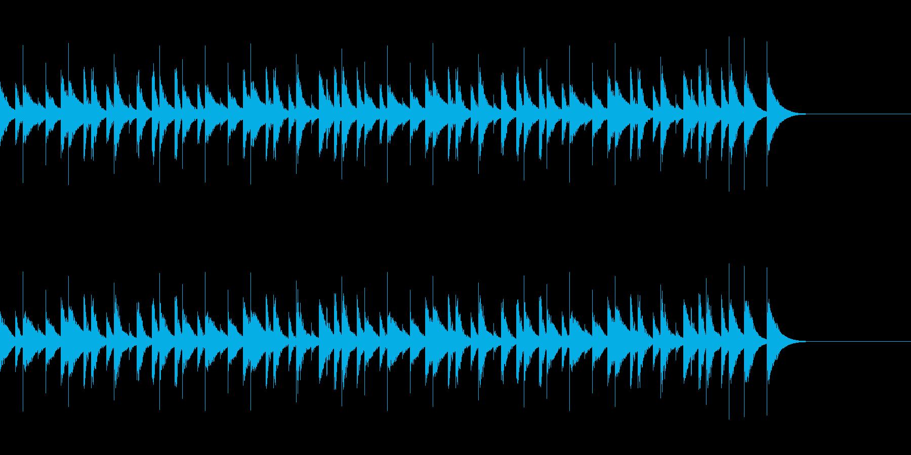 CM 木琴の陽気でコミカルなBGMの再生済みの波形