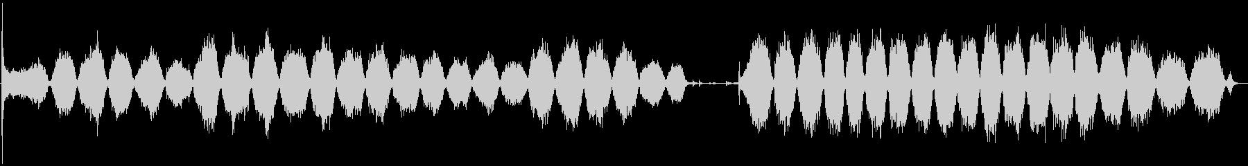 サンディングブロックを使用したハン...の未再生の波形
