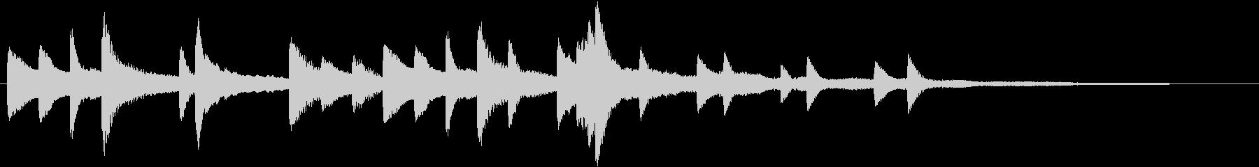 「花のワルツ」クラシックピアノジングルAの未再生の波形