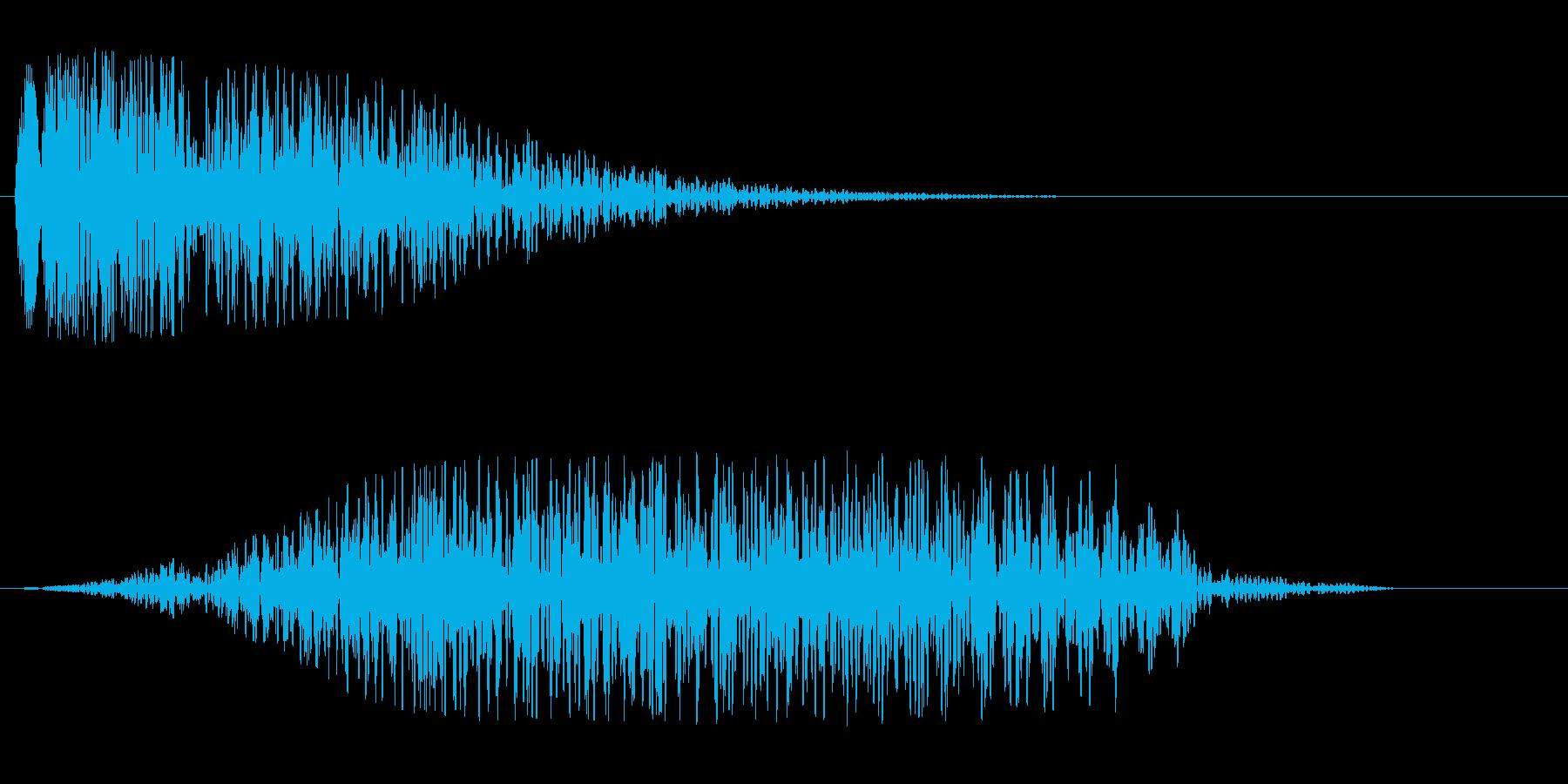 シューン(機械的な通過音)の再生済みの波形
