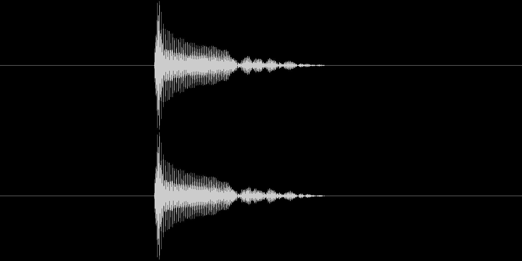 ポン(スタンプ押印・ビン開封・栓を抜く)の未再生の波形