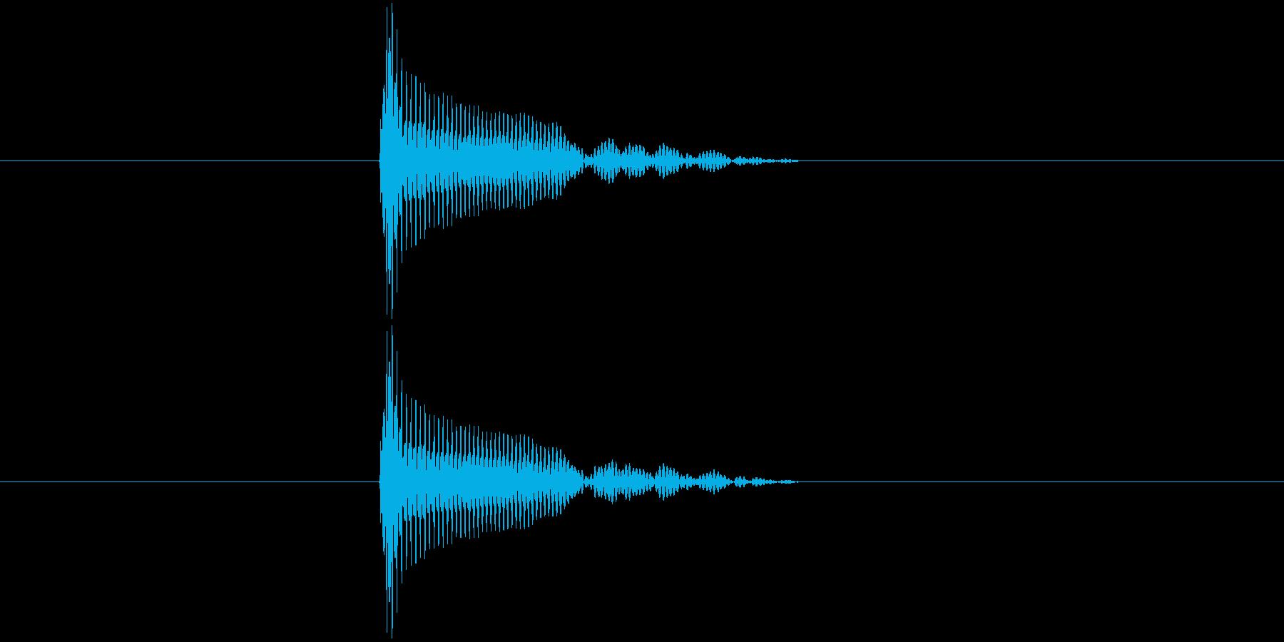 ポン(スタンプ押印・ビン開封・栓を抜く)の再生済みの波形