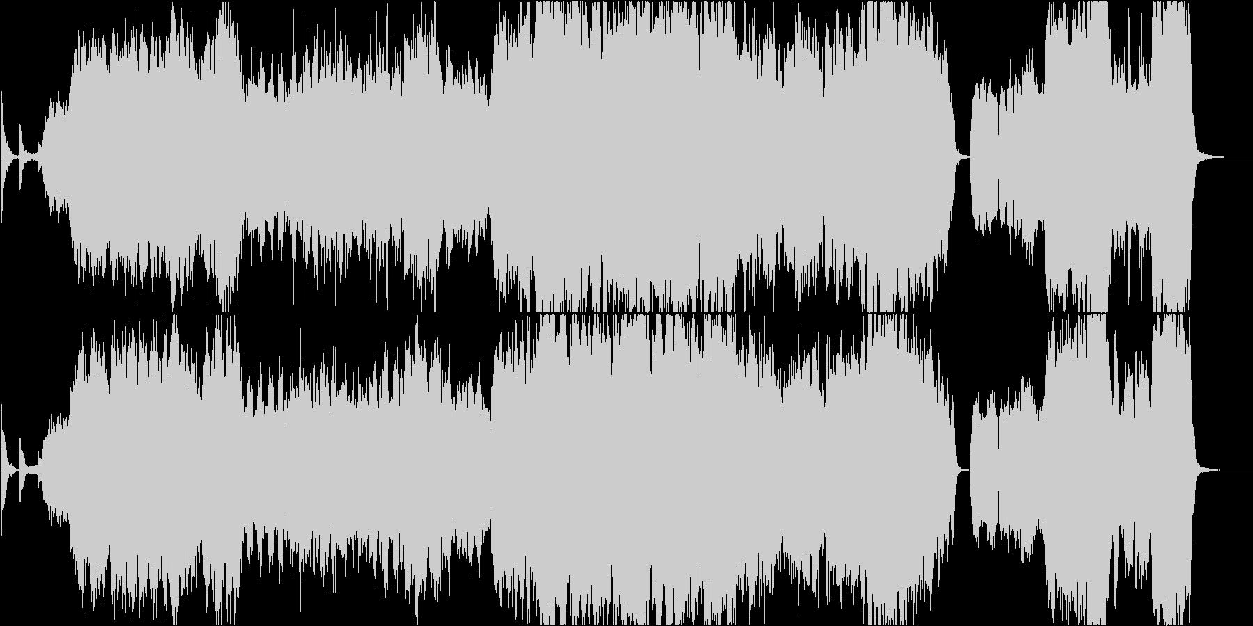 幻想的で雄大なケルトの笛2の未再生の波形