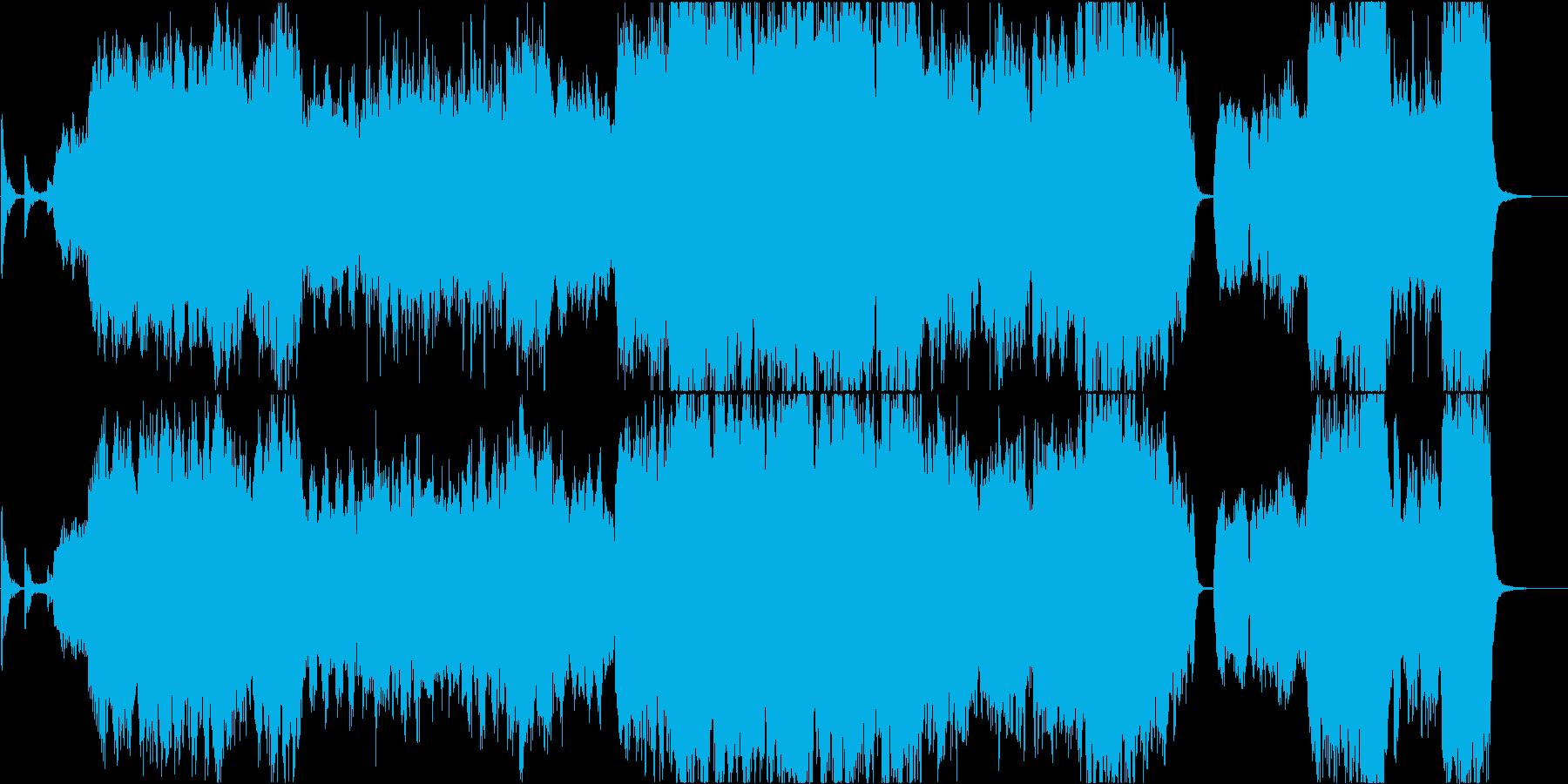 幻想的で雄大なケルトの笛2の再生済みの波形