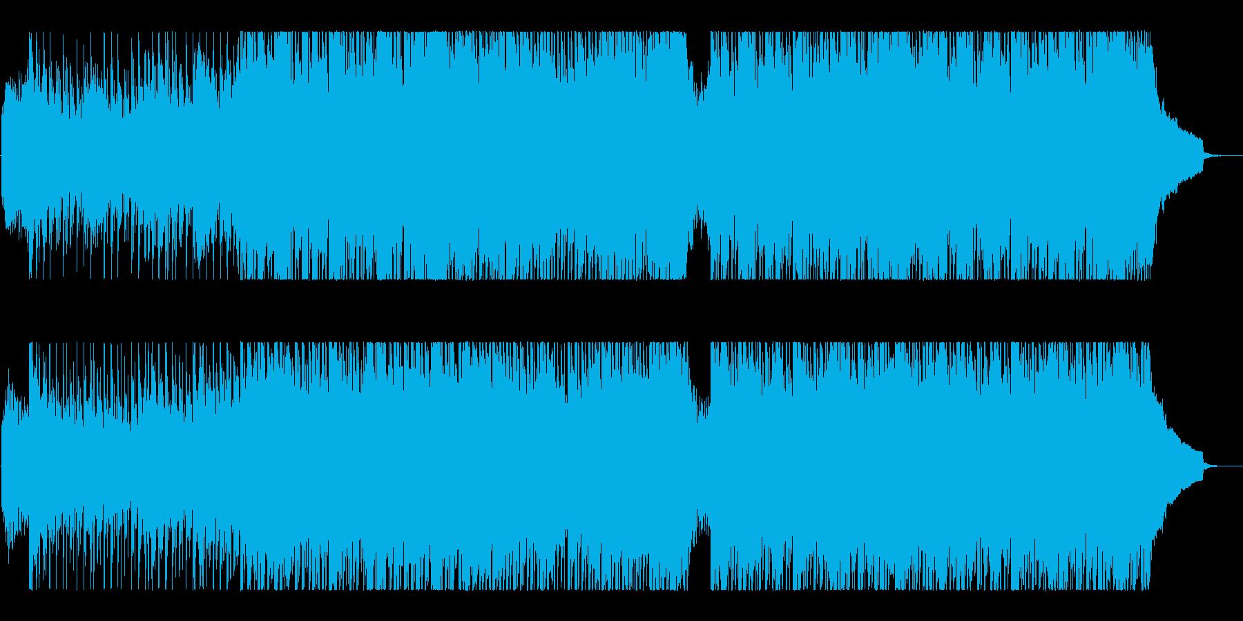 爽やかでスピード感のあるBGMの再生済みの波形
