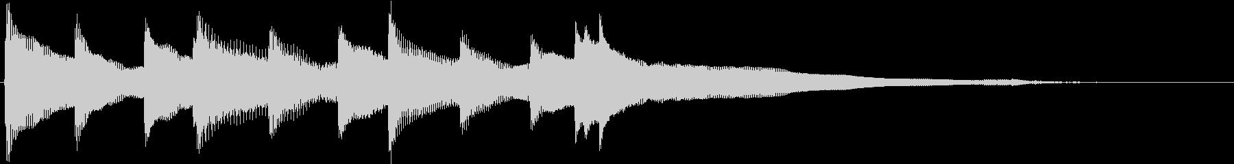 オープニング系 スタイリッシュなピアノの未再生の波形