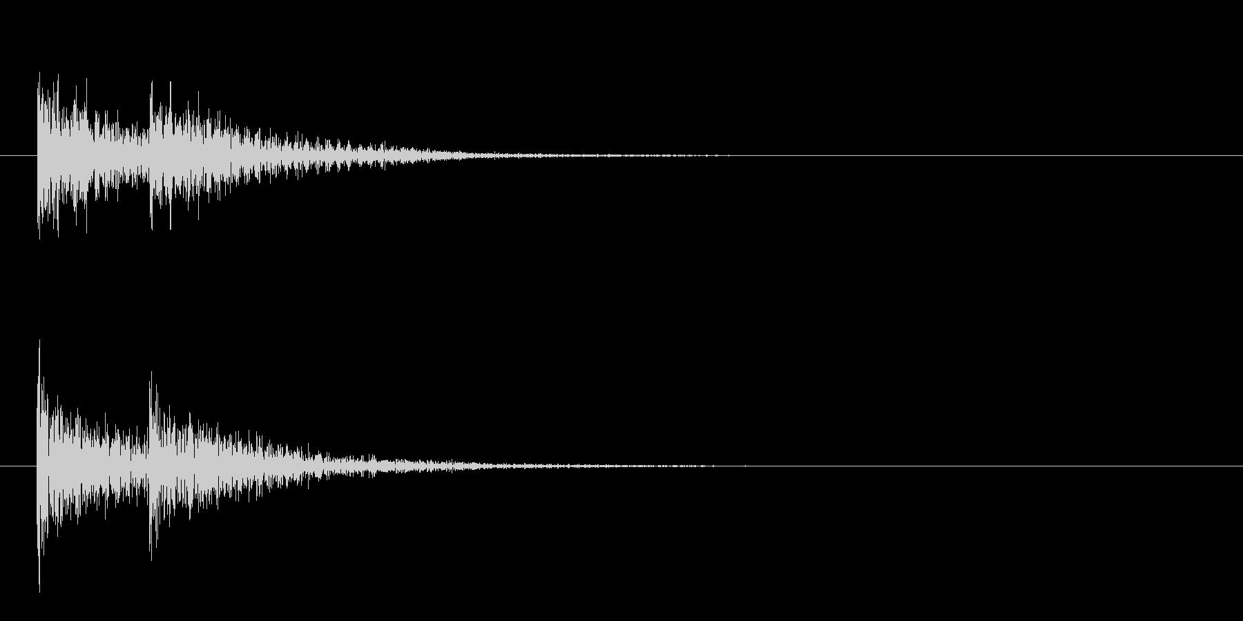漫画のティンパニドラムの未再生の波形