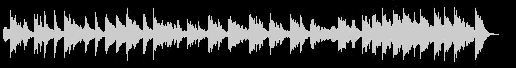童謡・お正月モチーフのピアノジングルBの未再生の波形