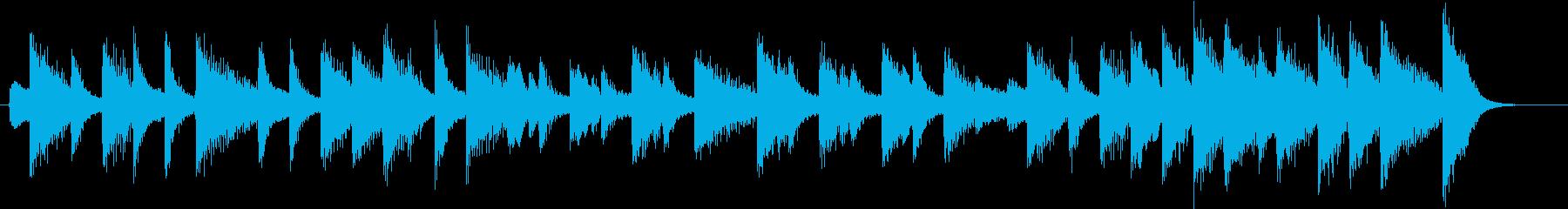 童謡・お正月モチーフのピアノジングルBの再生済みの波形