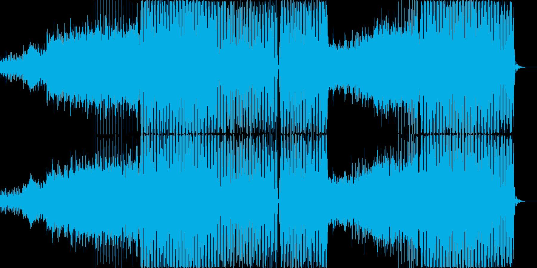 レトロフューチャーな80`sシンセポップの再生済みの波形