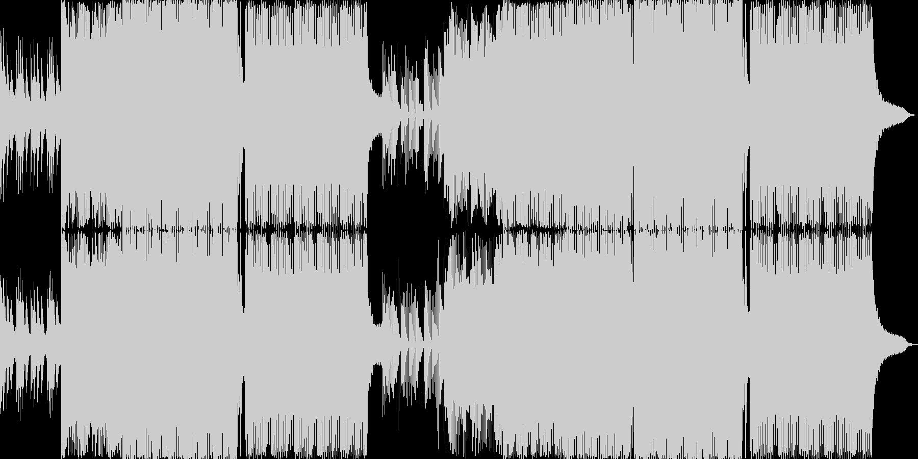 綺麗目なメロディーのピアノとシンセの未再生の波形