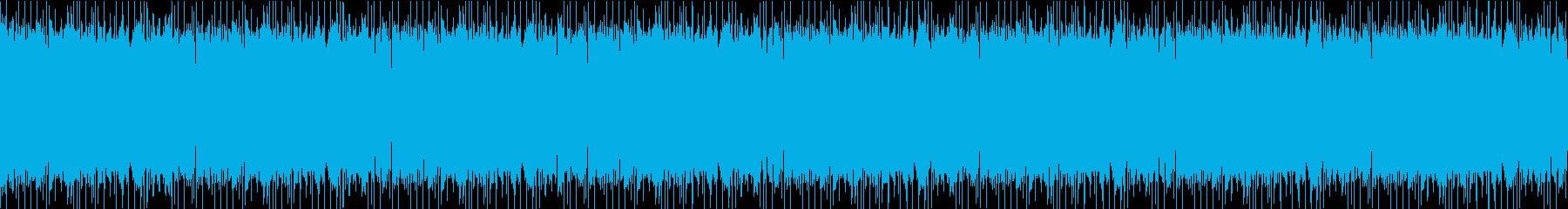 切迫する様な緊張感のあるビートの再生済みの波形