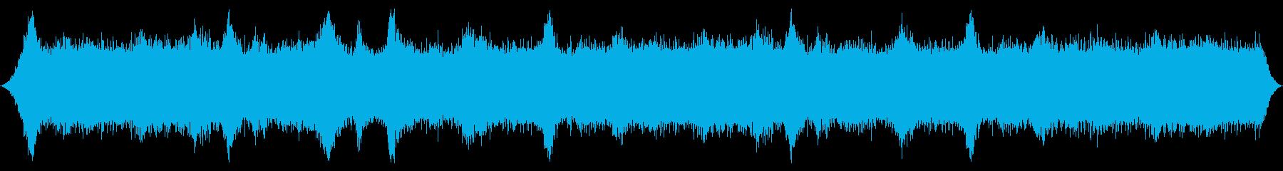 山の風:木または山の頂上からの重い...の再生済みの波形