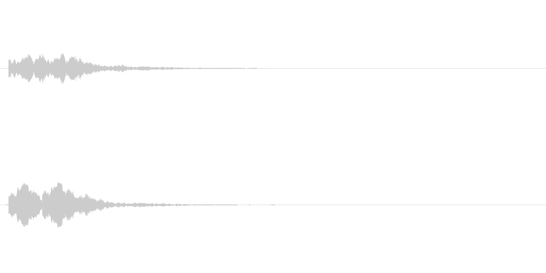 ICカード認証音 完了音 アテンション の未再生の波形