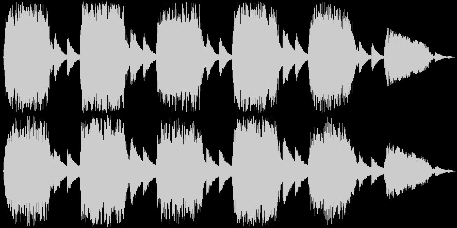 クワイアによる不気味で禍々しい楽曲の未再生の波形