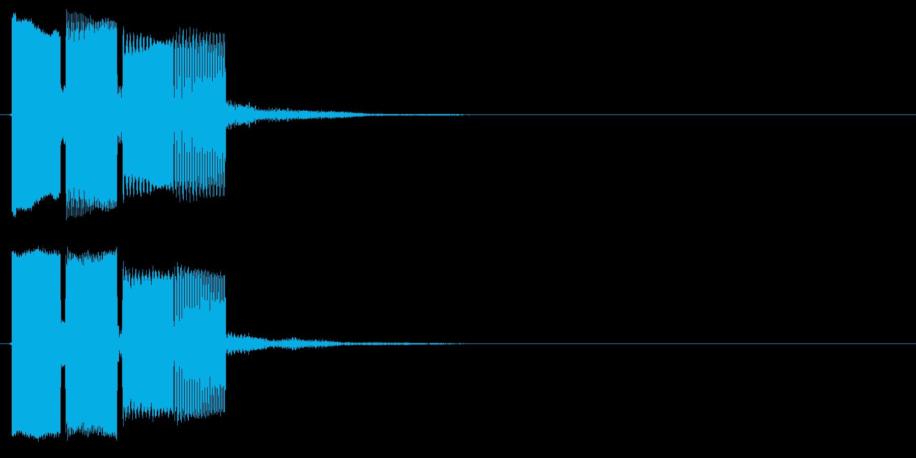 ぴ↑ぽぽぽ↓の再生済みの波形