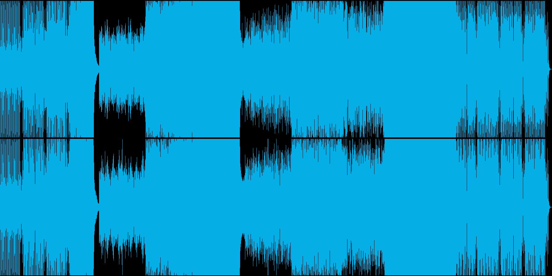 感動的なEDMの再生済みの波形