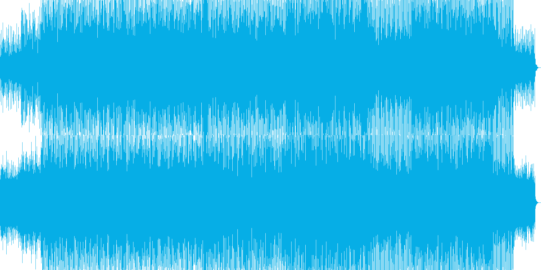 爽やかなエレクトロポップの再生済みの波形