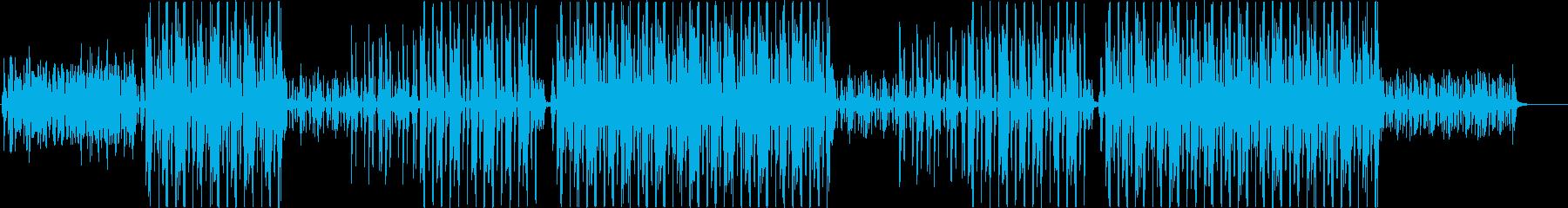 洋楽、アフロビート、アップテンポ♪の再生済みの波形