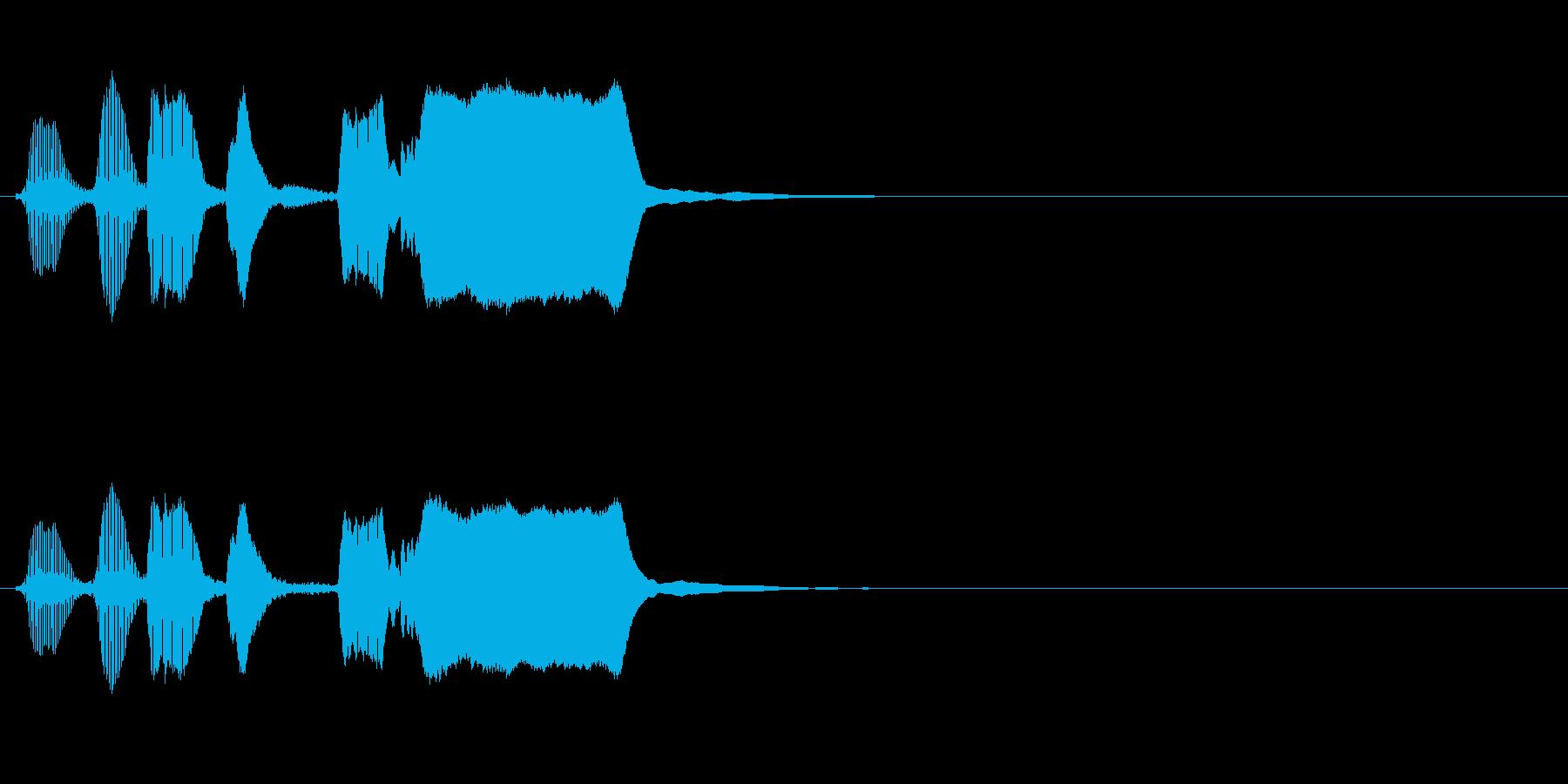 よくあるトランペットの効果音の再生済みの波形