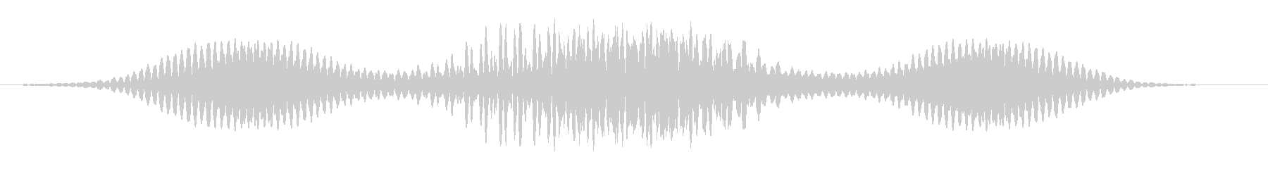 クイックハムスイープの未再生の波形