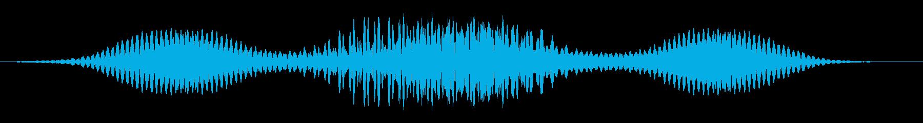 クイックハムスイープの再生済みの波形