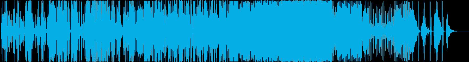 サイバー&テクノロジーなBGMの再生済みの波形
