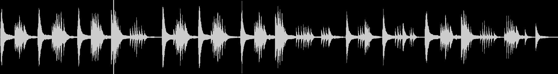 穏やかなピアノソロ フリーテンポの未再生の波形
