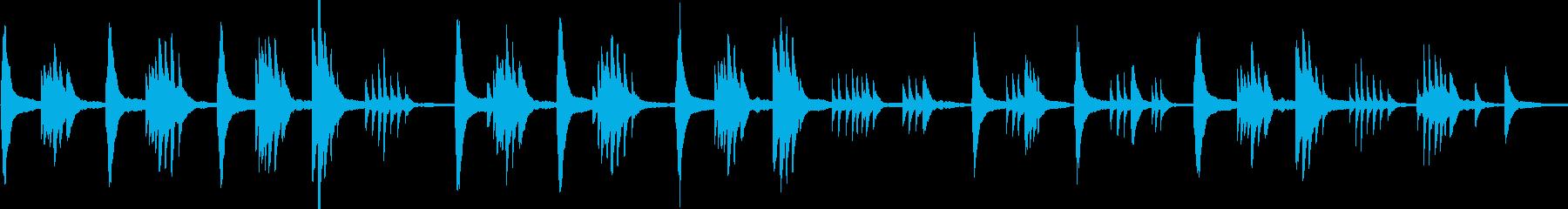 穏やかなピアノソロ フリーテンポの再生済みの波形