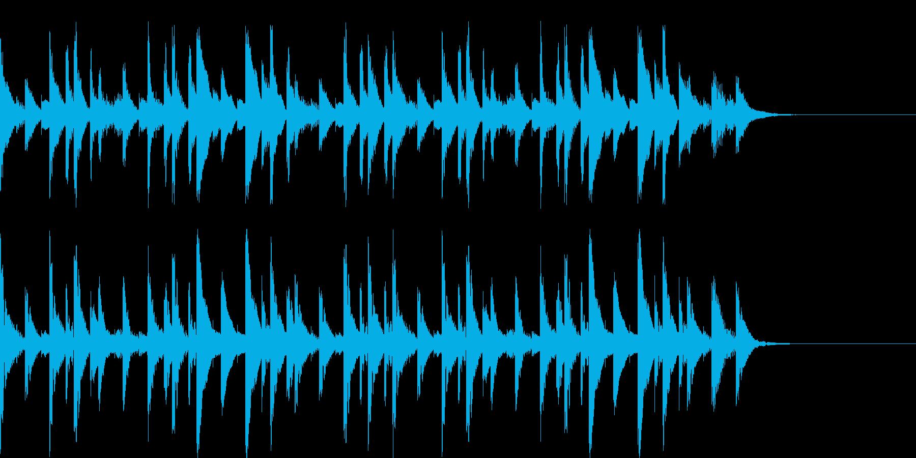 まったりほのぼのなマリンバのジングルの再生済みの波形
