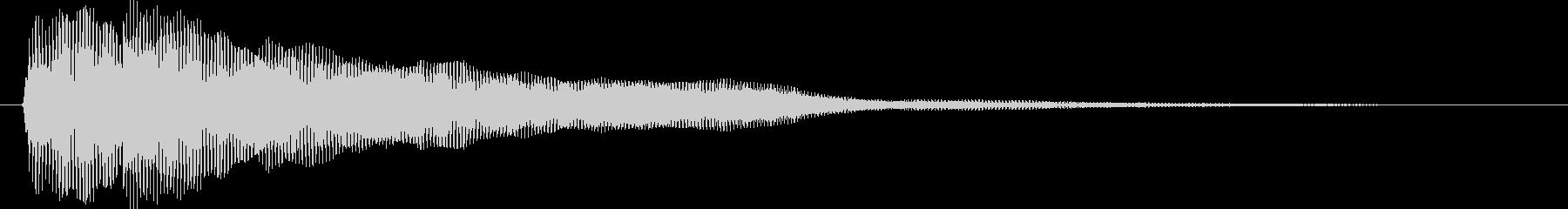 ディディーン(ピアノジングル:低音)の未再生の波形