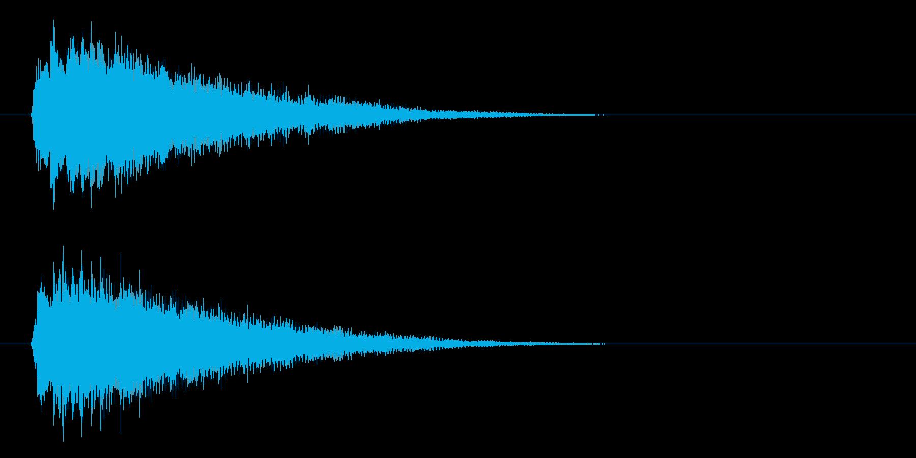 テロップ/ニュース/場面転換/キラキラの再生済みの波形