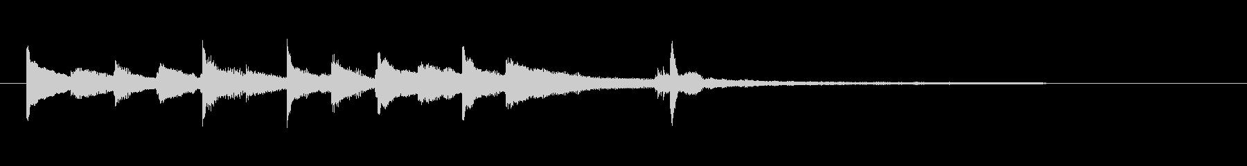 感動的・無垢なイメージのピアノジングルの未再生の波形