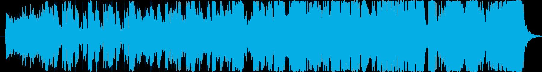 ダイナミックで激しいメロディーの再生済みの波形