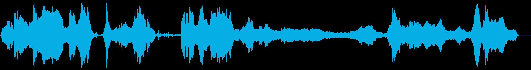 ドライアイス;不気味な長いさまざま...の再生済みの波形