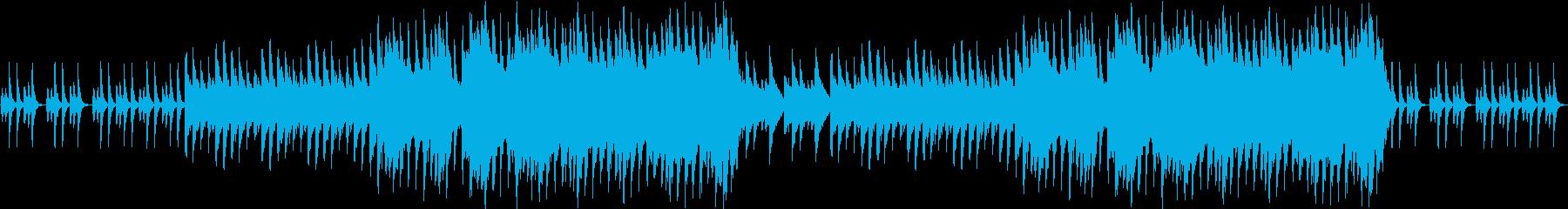 安心できる場面を想定したBGMの再生済みの波形