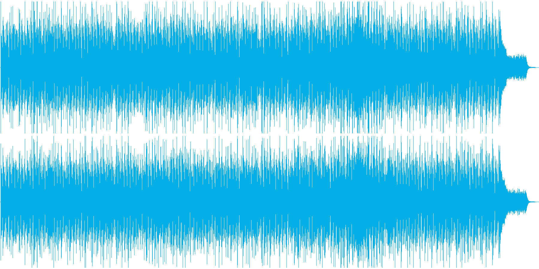 広がりのある近未来的なリラックスソングの再生済みの波形