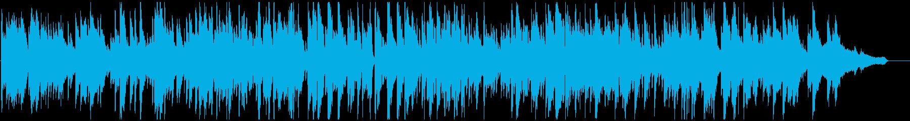 静かなボサノバ、ゆったりリラクゼーションの再生済みの波形