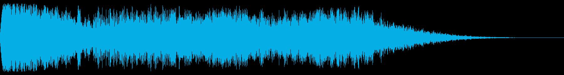 【映画】 インパクト_26 タイトルロゴの再生済みの波形