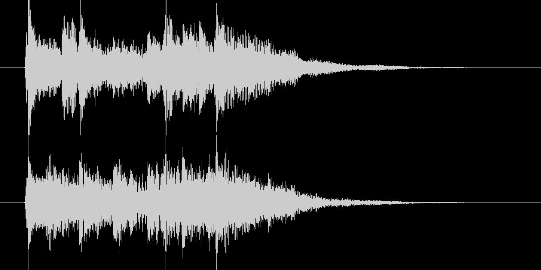 優しいアコギが特徴のジングル曲の未再生の波形