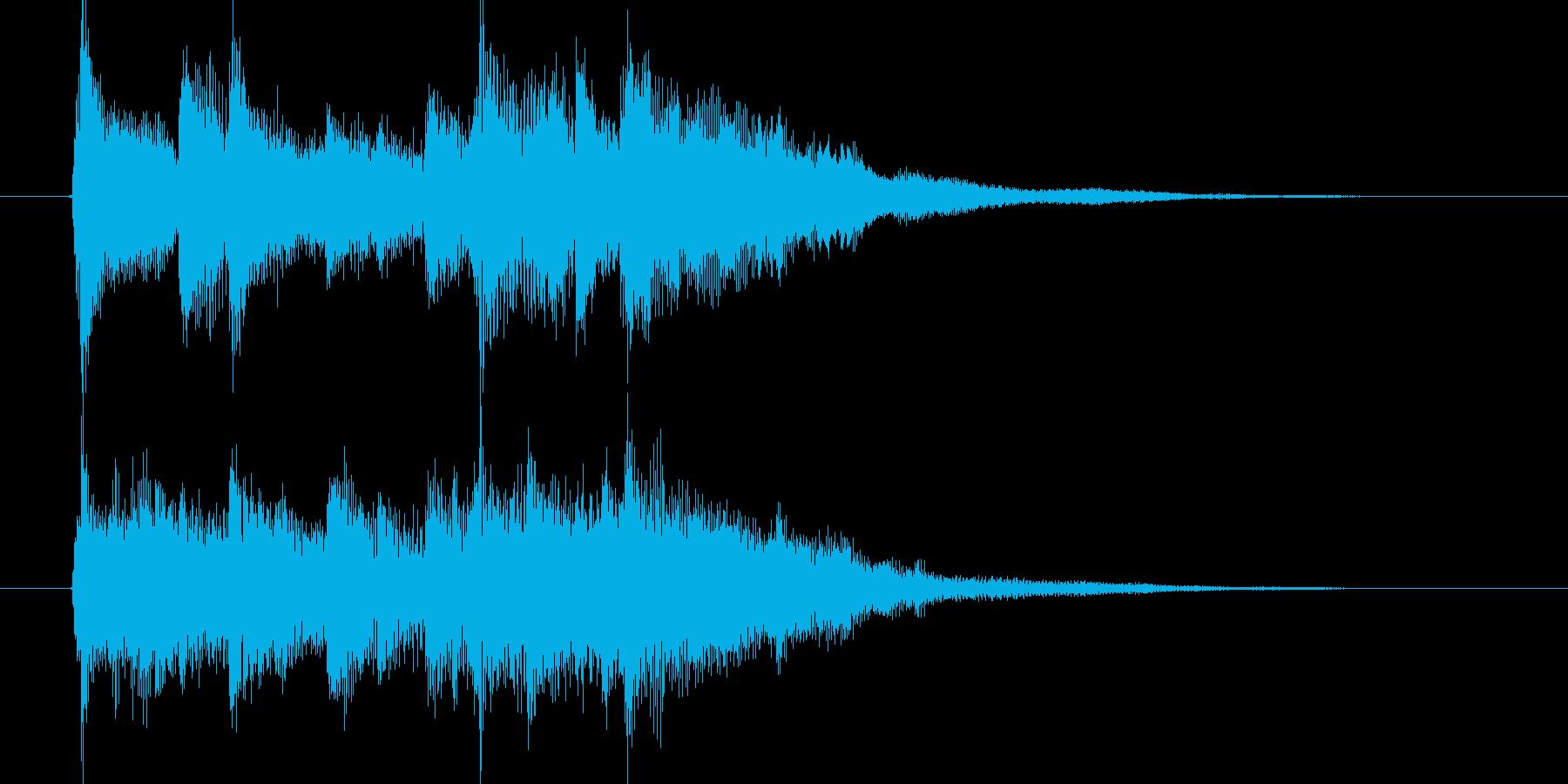 優しいアコギが特徴のジングル曲の再生済みの波形