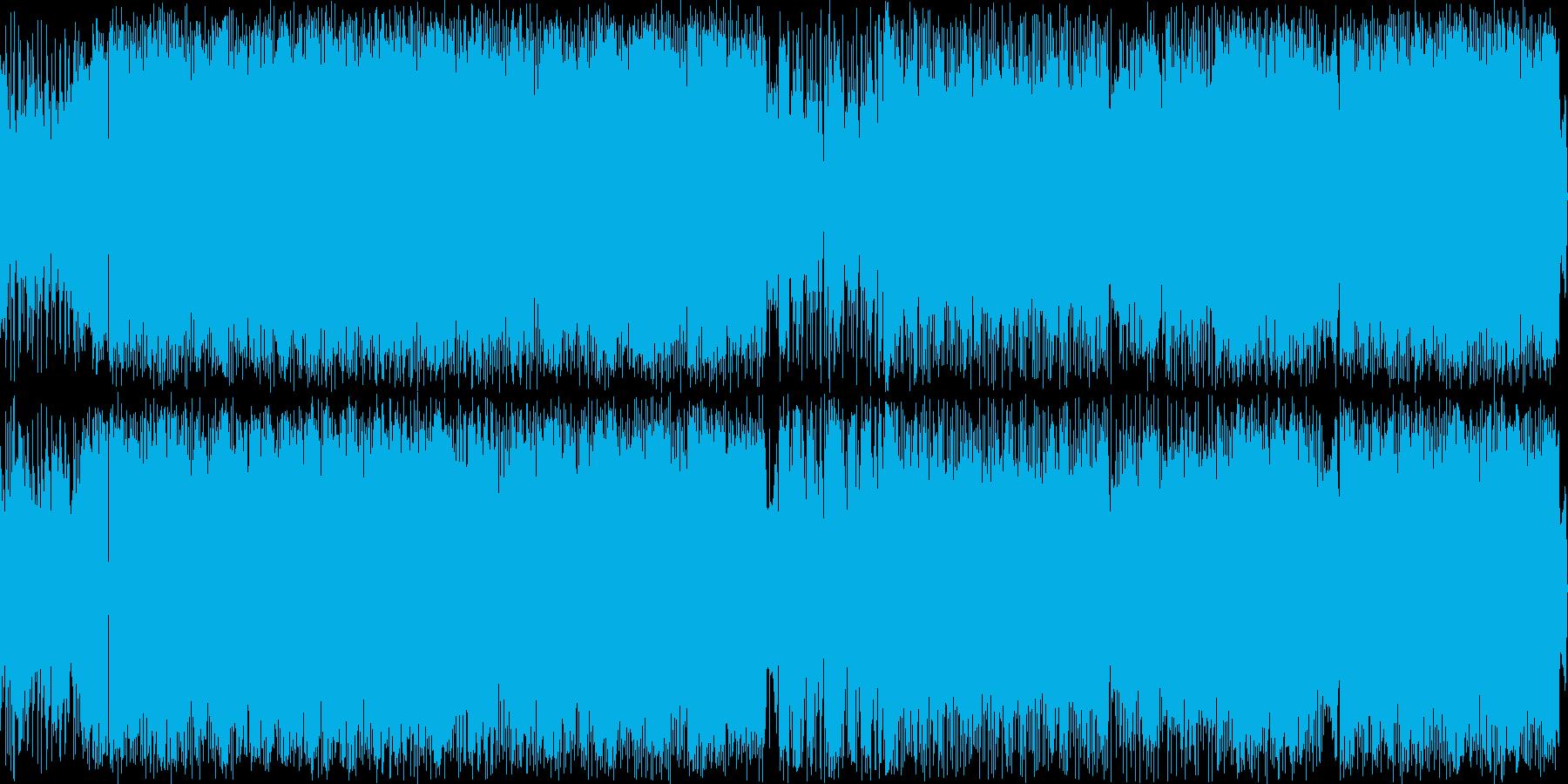軽快で疾走感のあるロックチューンの再生済みの波形
