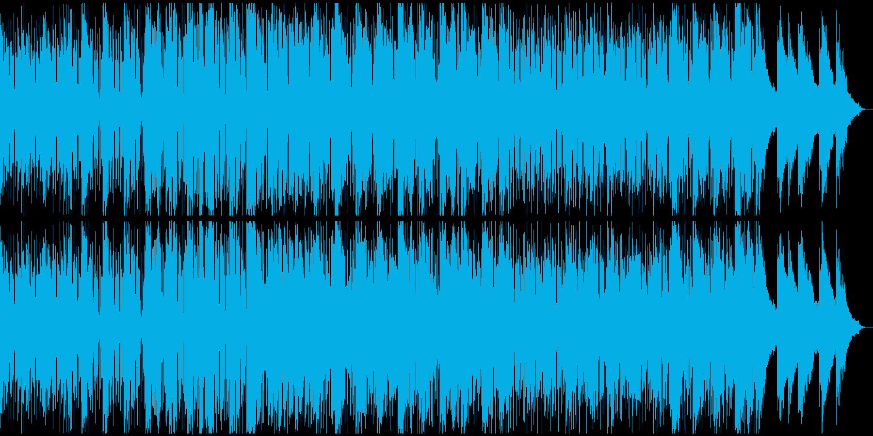 ウェスタン西部劇風のギターの渋いBGMの再生済みの波形