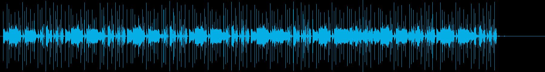 音が動きだすような不安定テクノの再生済みの波形