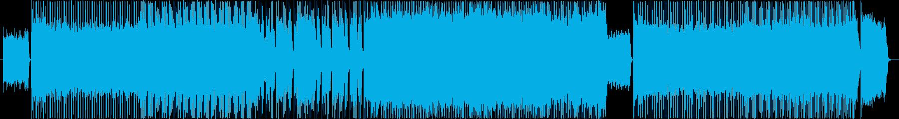ゲームのバトル曲の再生済みの波形