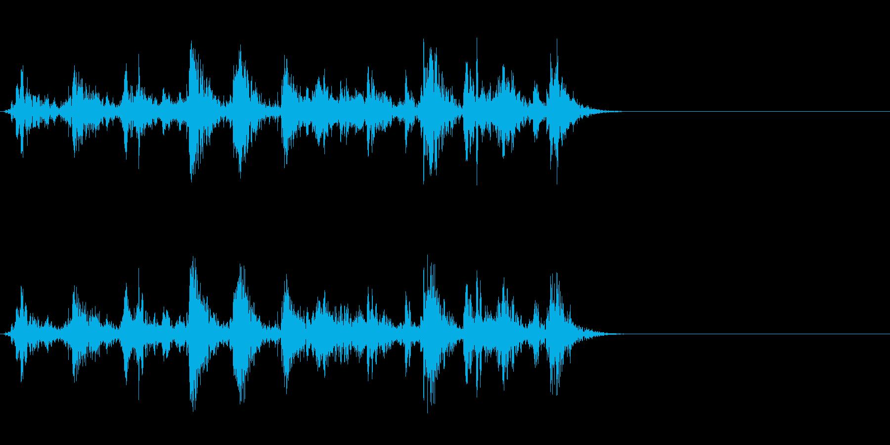 ブクブク!泡や水など特有の効果音!01Bの再生済みの波形