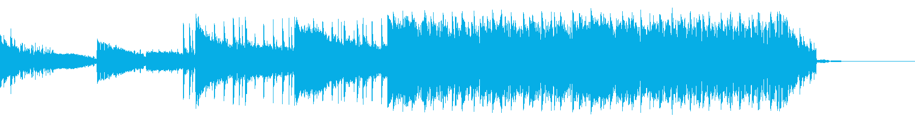 中程度の代替ロックテーマの再生済みの波形