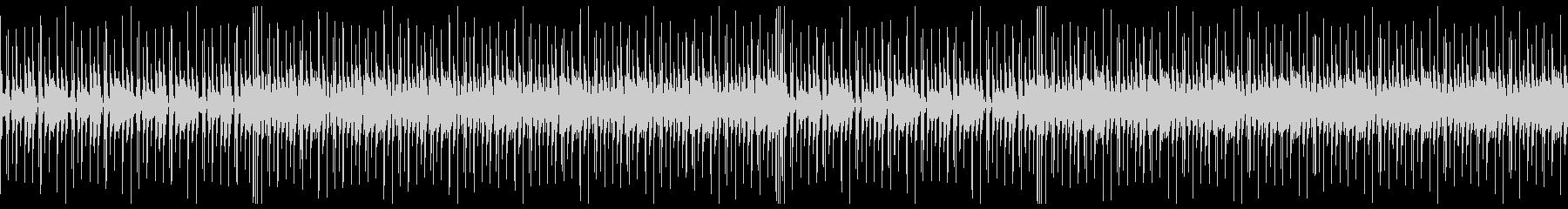 ファンキーなギターのBGMの未再生の波形