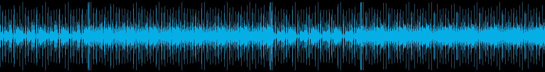 ファンキーなギターのBGMの再生済みの波形